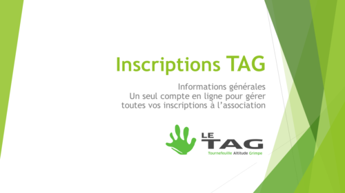 Inscriptions Le TaG